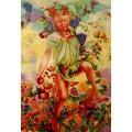 Leon Frederic, Fall - handgemaltes Ölbild, gemalt nach Vorlage in 50x70cm