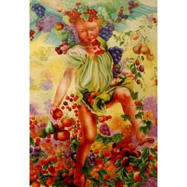 Leon Frederic, Fall- handgemaltes Ölbild, gemalt nach Vorlage in 50x70cm