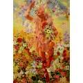 Leon Frederic, Spring- handgemaltes Ölbild, gemalt nach Vorlage in 50x70cm