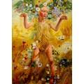 Leon Frederic, Summer handgemaltes Ölbild, gemalt nach Vorlage in 50x70cm