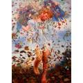 Leon Frederic, Winter handgemaltes Ölbild, gemalt nach Vorlage in 50x70cm