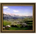 Saalfelden am Steinerne Meer, handgemaltes Ölbild in 50x60cm