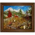 Saalfelden am Steinerne Meer vom Biberg, handgemaltes Ölbild in 50x60cm