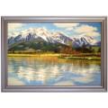 historische Ansicht von Zell am See, handgemaltes Ölbild in 50x60cm