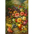 Blumen, Blumenstrauß- handgemaltes Ölbild , gemalt nach einer Vorlage in 50x60cm