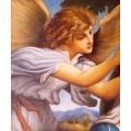 Engel Portrait- handgemaltes Ölbild in 50x60cm nach einer Motivvorlage v. Lorenzo Lotto