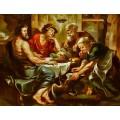Peter Paul Rubens-Werkstatt-Jupiter und Merkur bei Philemon und Baucis_80x60cm
