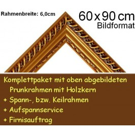 Bilderrahmen S11 Goldbraun F60x90cm