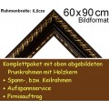 Bilderrahmen S10 Weinrot F60x90cm