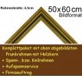 Bilderrahmen S12 Gold-Grün F50x60cm