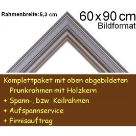 Bilderrahmen S15 Silbergrau F60x90cm