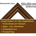 Bilderrahmen S18 in Braun-Grau F50x60cm
