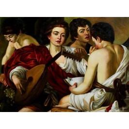 Caravaggio- 60x80 cm - das Konzert 1595 v. Caravaggio, handgemalt nach einer Motivvorlage