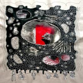 Nähcollage, erstellt von Cäcilia Gabriel