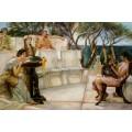 Alma Tadema- 60x90 cm - Sappho und Alcaeus 1881, handgemalt nach einer Vorlage v. Alma-Tadema Sir Lawrence