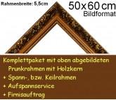 Prunkrahmen 5079 in Goldbraun F50x60cm