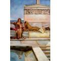 Alma Tadema- 60x90 cm - Xanthe und Phaon 1883, gemalt nach einer Vorlage v. Alma-Tadema Sir Lawrence