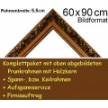 Prunkrahmen 5079 in Goldbraun F60x90cm