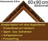 Prunkrahmen 5079 in Goldbraun F60x90cm