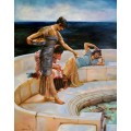 Alma Tadema- handgemaltes Ölbild in 70x90 cm - Silver Favorites handgemalt nach einer Motivvorlage v. Alma-Tadema Sir Lawrence