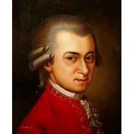 Mozart Portrait - handgemaltes Ölbild in 50x60cm nach einer Motivvorlage v. Edlinger Georg