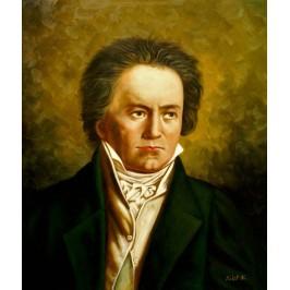 Beethoven Ludwig -  handgemaltes Ölbild nach einer Motivvorlage von Joseph Karl Stieler
