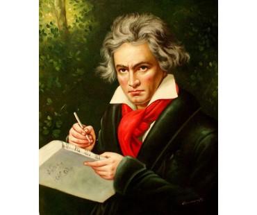 Beethoven Ludwig1 -  handgemaltes Ölbild nach einer Motivvorlage von Joseph Karl Stieler