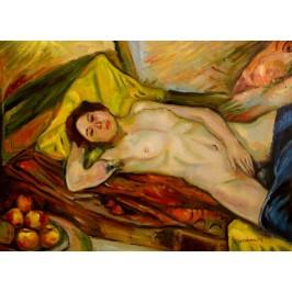 Faistauer Anton - liegender weiblicher Akt - handgemaltes Ölbild