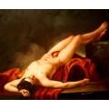 Hector, handgemaltes Ölbild, gemalt nach einer Motivvorlage v. Jacques Louis David
